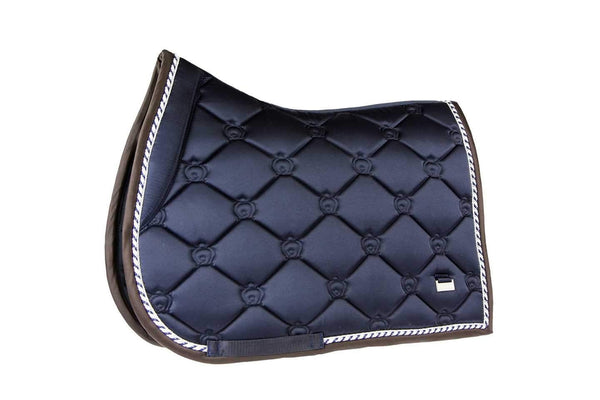 PS of Sweden Deep Sapphire Monogram Jump Saddle Pad