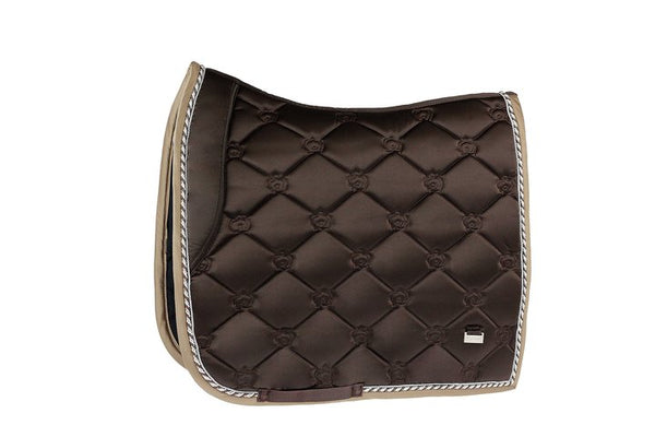 PS of Sweden Chocolate Monogram Dressage Saddle Pad