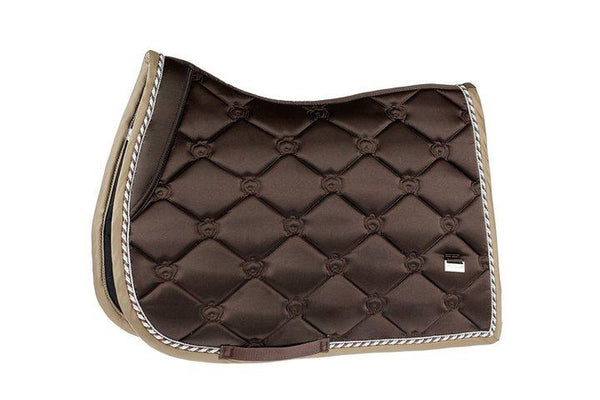 PS of Sweden Chocolate Monogram Jump Saddle Pad
