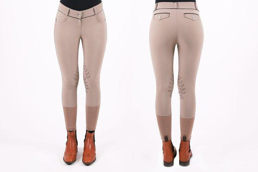 PS of Sweden Liza Knee Patch Breeches Ice Coffee