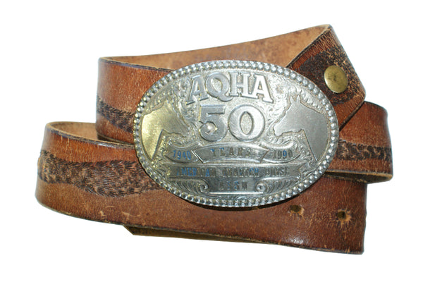 Vintage 1990 AQHA 50th Anniversary Quarter Horse Belt Buckle