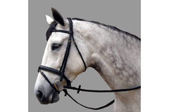 ThinLine Dressage Black Padded Snaffle Bridle