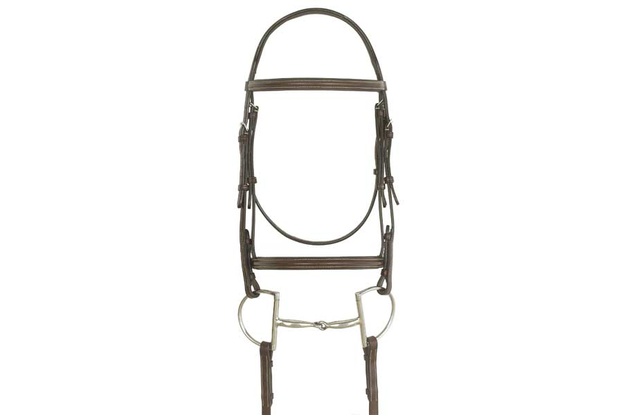 Ovation Elite Collection - Ultra Raised Comfort Crown Padded Bridle with Raised Laced Reins