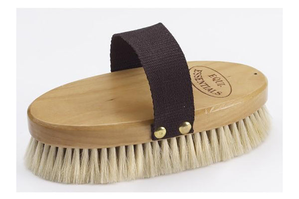 Equi-Essentials Wood Back Body Brush with Goat Hair