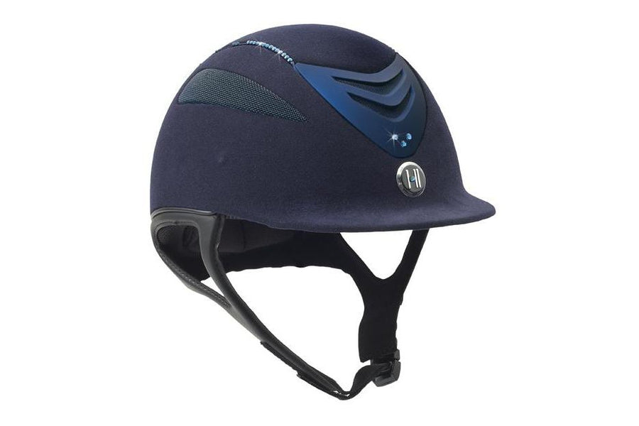 One K Defender Suede Bling Helmet with Swarovski Stones