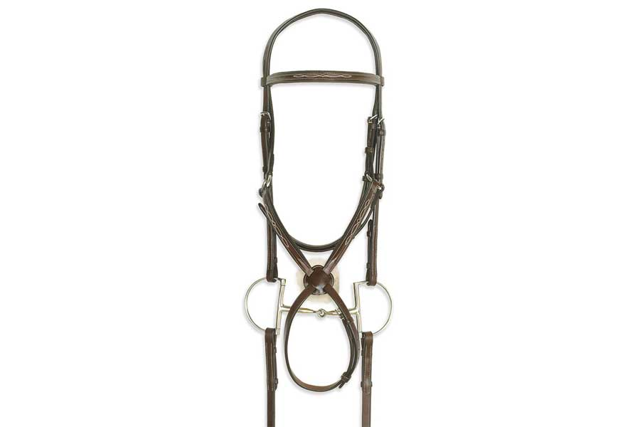 Ovation Classic Collection - Figure 8 Comfort Crown Bridle with BioGrip Rubber Reins