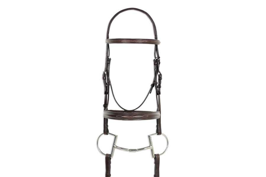 Ovation Classic Collection - Fancy Raised Comfort Crown Padded Bridle with Fancy Raised Laced Reins