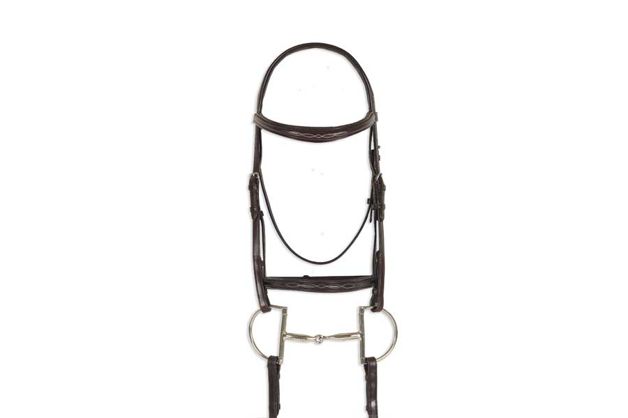 Ovation Breed Fancy Stitched Raised Padded Bridle - Arabian