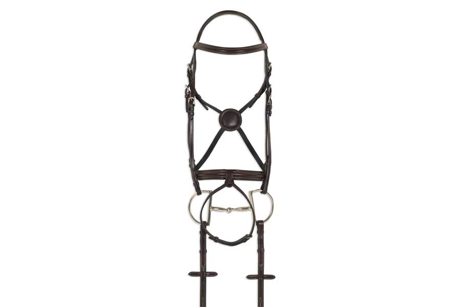 Ovation ATS Equalizer Round Raised Bridle with Flash