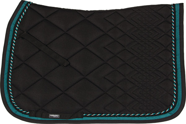 CATAGO Diamond Dressage Saddle Pad Black/Turquoise