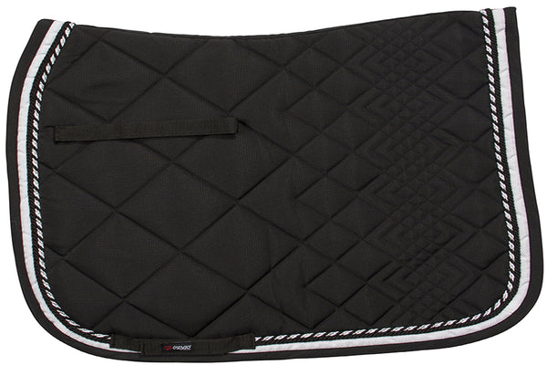 CATAGO Diamond Dressage Saddle Pad Black/White