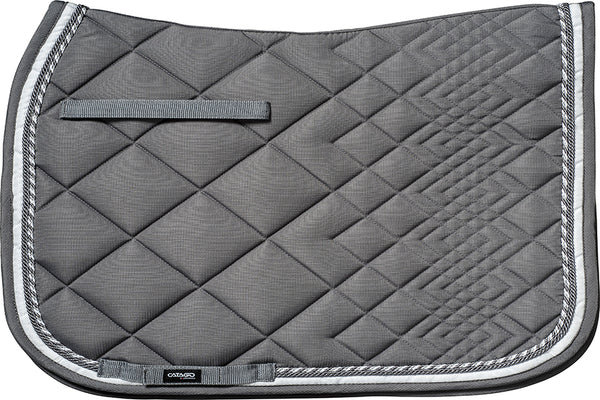 CATAGO Diamond Dressage Saddle Pad Grey