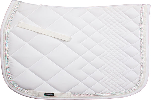 CATAGO Diamond Dressage Saddle Pad White