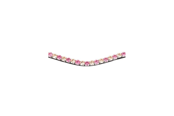 Montar Curved Mighty Peach/Pink Browband