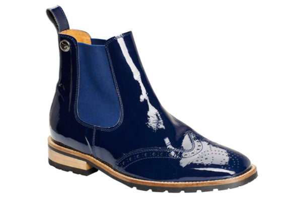 Montar Blue Leather Ankle Boot