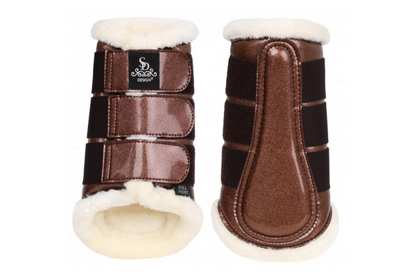 SD Design Sparkle Tendon Boots (Set of 4) Brown