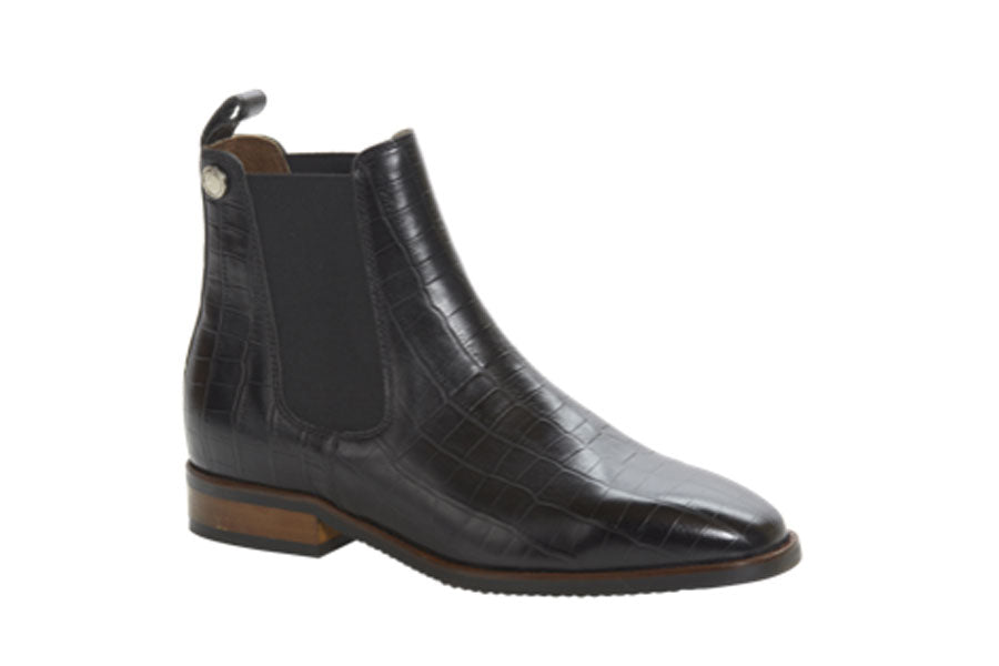 Montar Croco Jodhpur Boots Black (Womens 11/Mens 9)