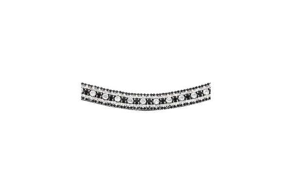 Montar Curved Passion Black/White Browband