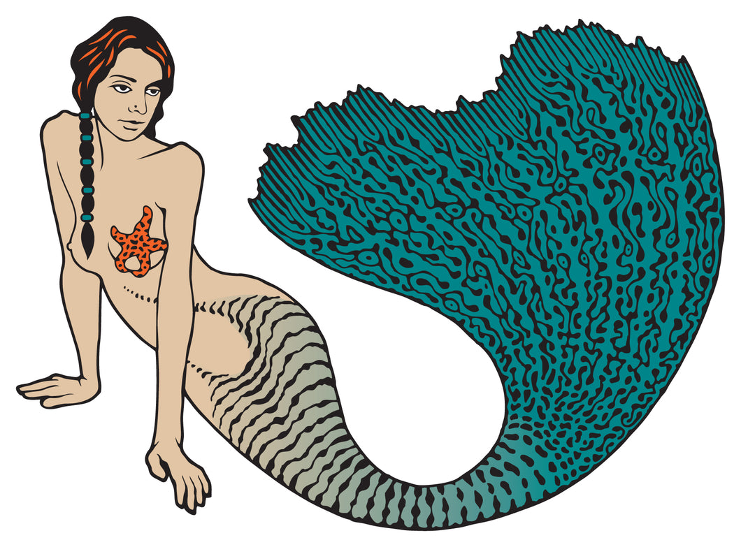 Fancy Tail Mermaid Sticker