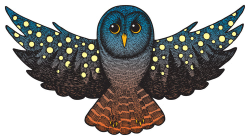 Starry Night Owl Sticker