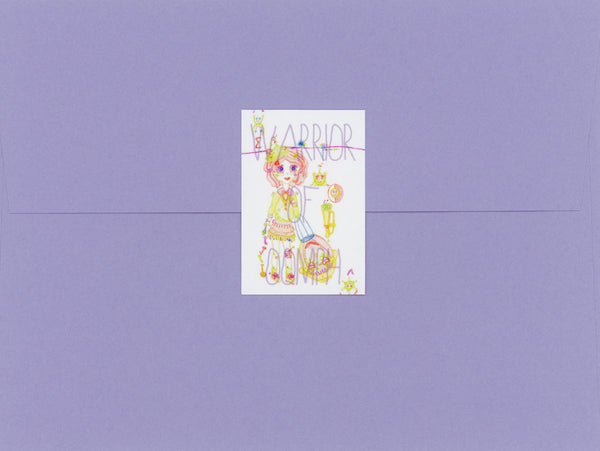 Warrior of Oomph, Cute, Colorful, Happy, Sticker, Envelope Seal