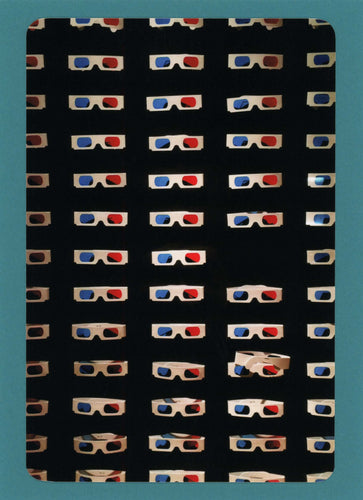 3D Glasses, Fun, Funky, Unique, Witty, Colorful, Notecard