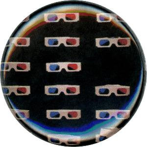 3D Glasses, Fun, Funky, Whimsical, Unique, Button, Magnet