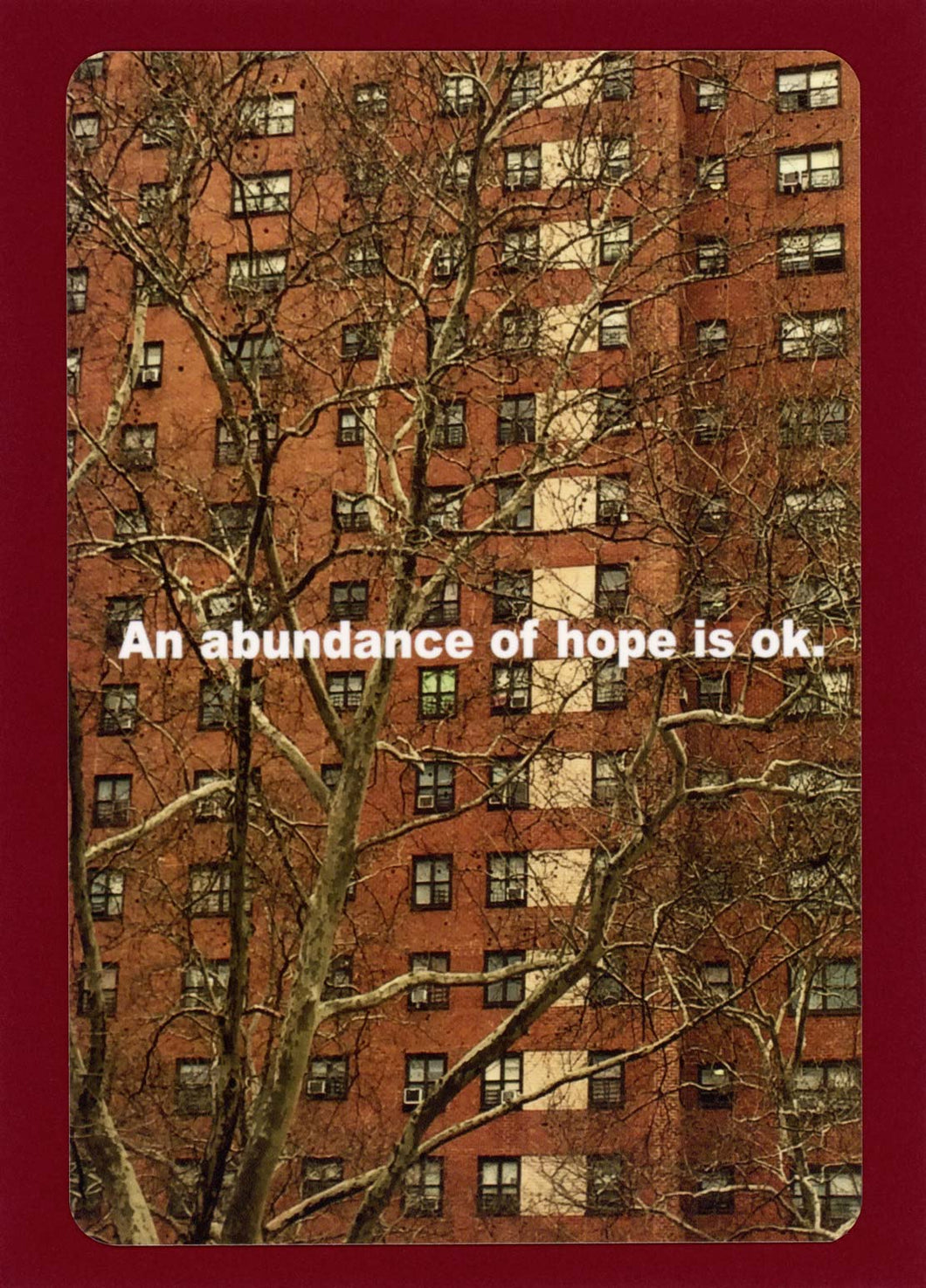 An Abundance Of Hope Is Ok, Affordable, Unique, Funky, Collectible, Happy, Witty, Notecard