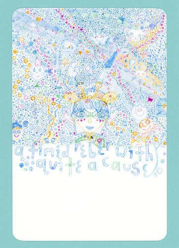 Bluegirl, Timid, Rebel, Cute, Colorful, Collectible, Notecard