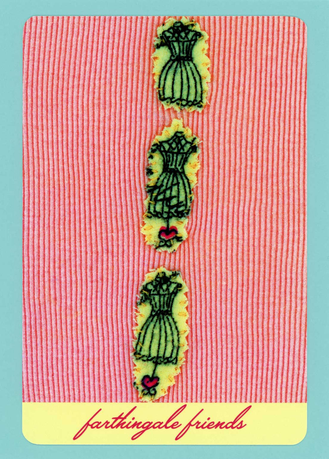 Farthingale Friends, Cute, Colorful, Whimsical, Unique, Fun, Collectible, Happy, Notecard