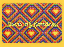 Fibers of Fondness, Colorful, Fun, Happy, Collectible, Notecard