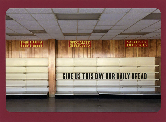 Give Us This Day Our Daily Bread, Whimsical, Unique, Fun, Witty, Happy, Collectible Notecard
