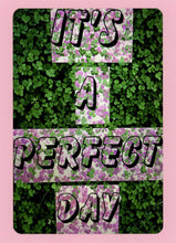 It's A Perfect Day, Colorful, Whimsical, Unique, Fun, Happy, Collectible, Notecard