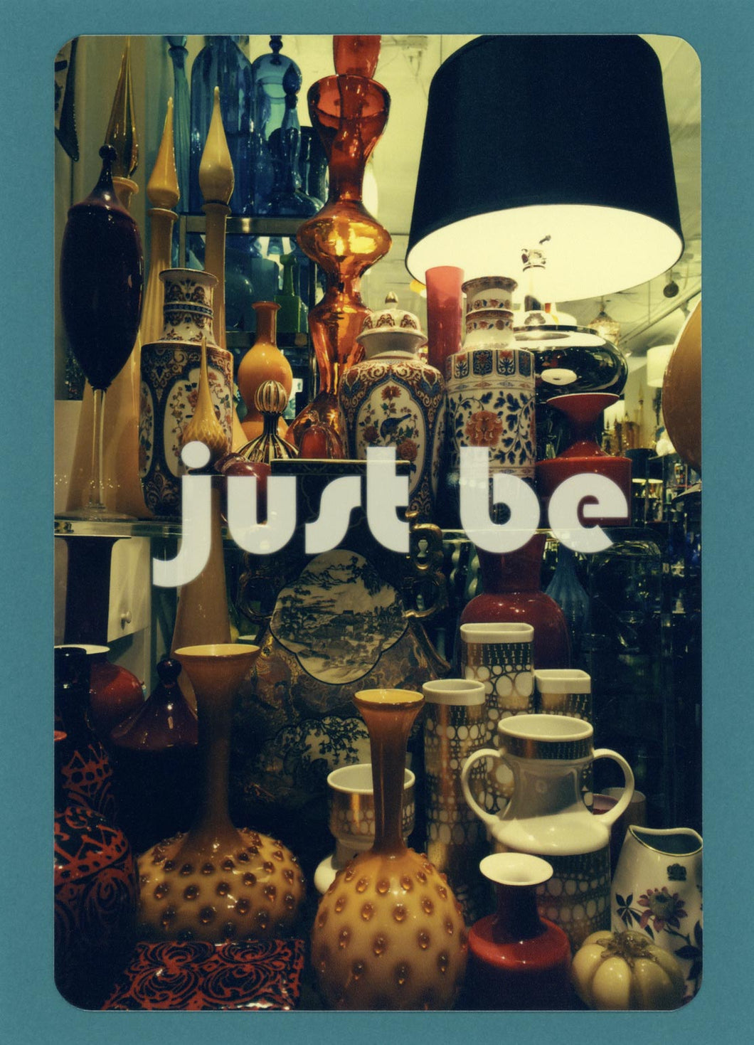 Just Be, Unique, Meditation, Content, Happy, Fun, Funky, Collectible, Notecard