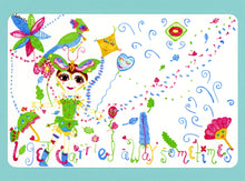 LouLouDee & Koo, Cute, Colorful, Whimsical, Fun, Happy, Collectible, Notecard