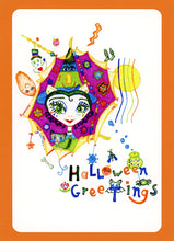 Magissa, Cute, Colorful, Halloween, Whimsical, Fun, Happy, Collectible, Notecard