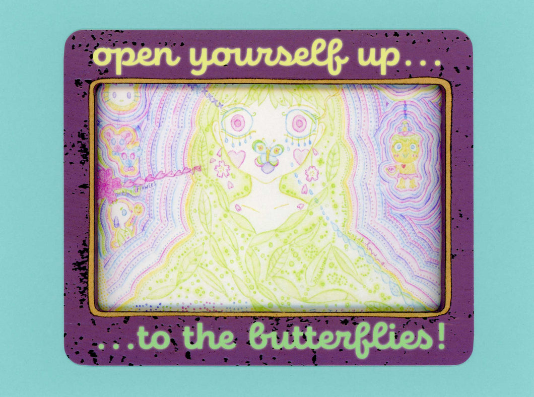 Open Yourself Up...To The Butterflies! Cute, Colorful, Notecard