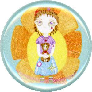 Pleasance & Rollmop, Cute, Friendly, Colorful, Happy, Button, Magnet