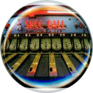 Skee Ball, Cute, Colorful, Fun, Whimsical, Happy, Button, Magnet