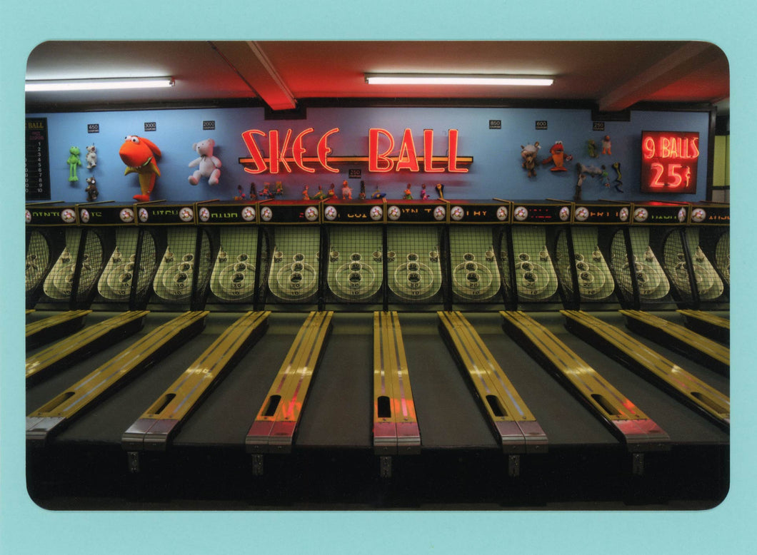 Skee Ball, Cute, Colorful, Fun, Unique, Whimsical, Funky, Happy, Notecard