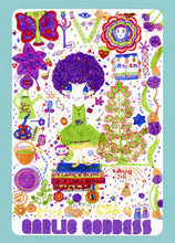 Tivu, Garlic Goddess, Cute, Colorful, Whimsical, Fun, Happy, Collectible, Notecard