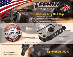 Springfield Armory® XD-S  Conceal Carry Belt Clip (Ambidextrous)