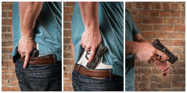 1911 Full Size Models - Conceal Carry Gun Belt Clip (Right Side)