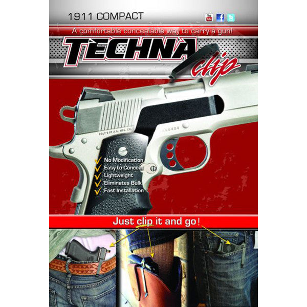 1911 Compact Models - Conceal Carry Gun Belt Clip (Right Side)