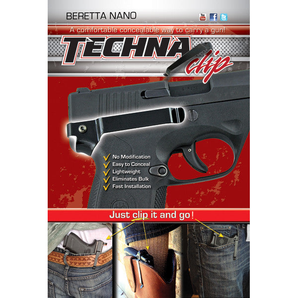 Beretta® Nano - Conceal Carry Gun Belt Clip (Right -Side)