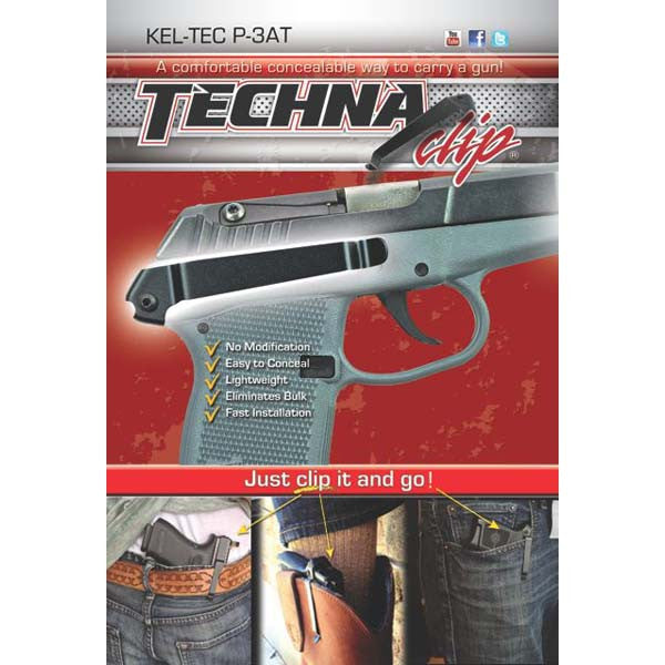 Kel- Tec® P3AT & P32 - Conceal Carry Gun Belt Clip (Right-Side)
