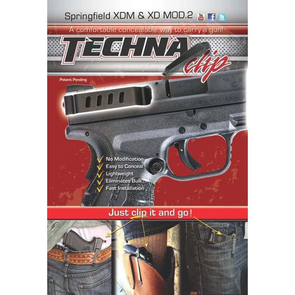 Springfield Armory MOD.2 & XDM - Conceal Carry Gun Belt Clip (Right Side)
