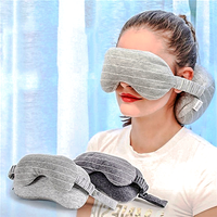 Flying Bear! 2-in-1 Travel Mask And Pillow Set
