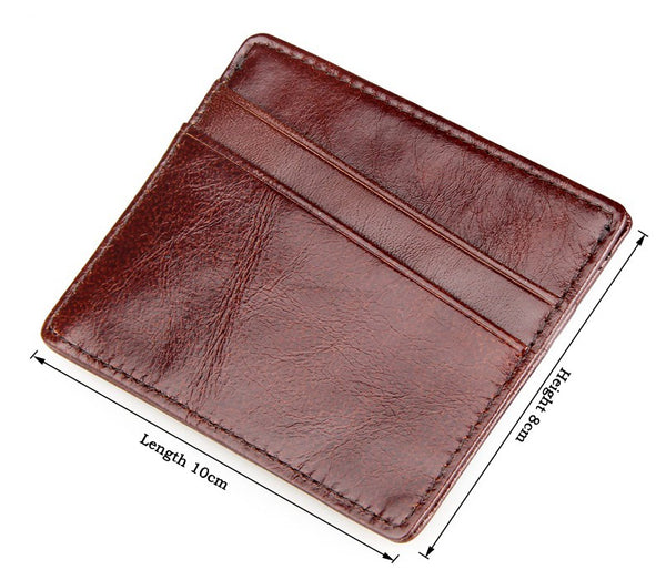 Vintage Minimalist Wallet Coffee