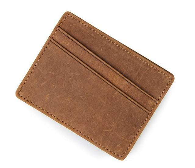 Vintage Minimalist Wallet Brown